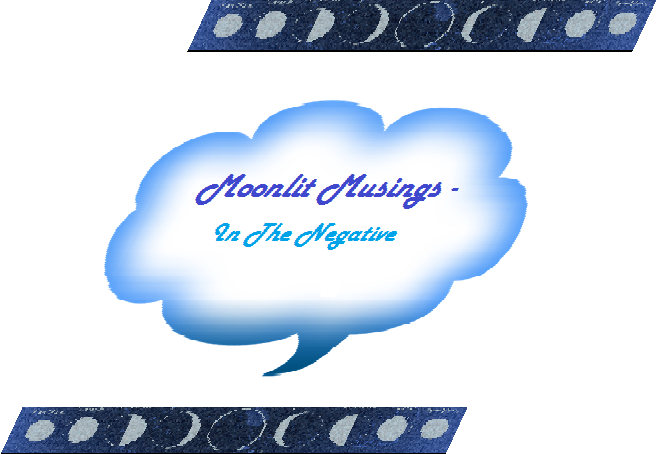 Moonlit Musing – In The Negative