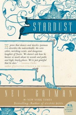 Stardust by Neil Gaiman, cover illustration, fantasy, fairy tale story, short stories