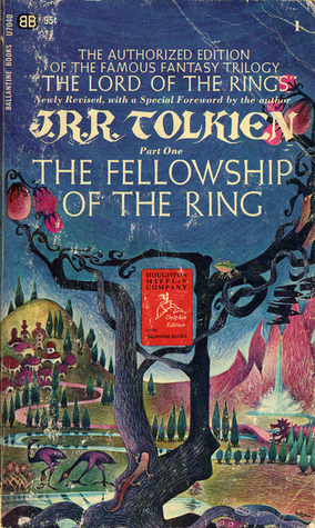 The Fellowship of the Ring, The Lord of the Rings, JRR Tolkien, book cover, fantasy novels